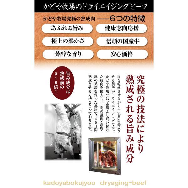 熟成肉 ロースステーキ(A-GRADE)250g ドライエイジング 40日間熟成 kadoyabokujou 03