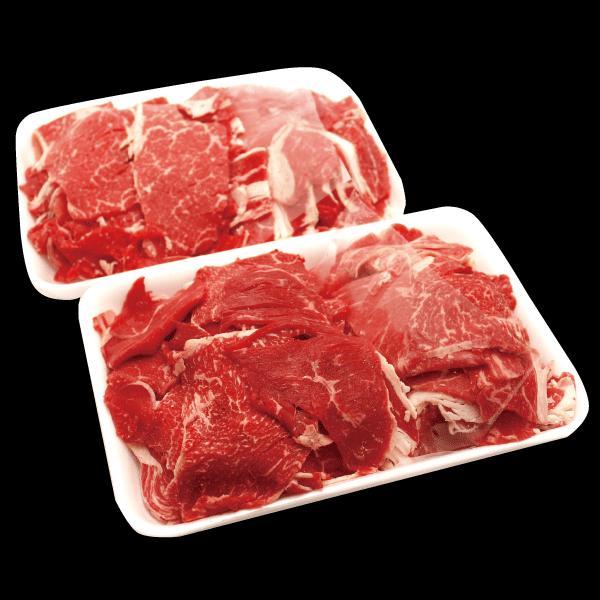 牛モモ 国産牛切り落とし1kg 500g x 2パック モモ肉 肩肉 バラ肉 焼きしゃぶ 牛丼 肉じゃが 牛肉 国産 ギフト すき焼き kadoyabokujou 02