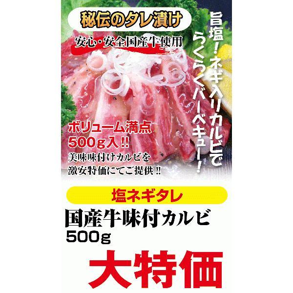 国産牛塩ねぎカルビ焼肉用500g|kadoyabokujou|03