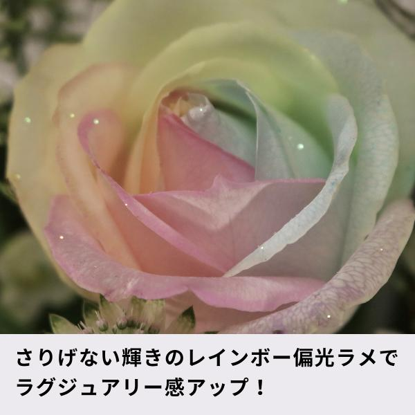 レインボーローズ ピュアパステル 季節の花 アレンジメント 生花|kaduki-miyachi|06