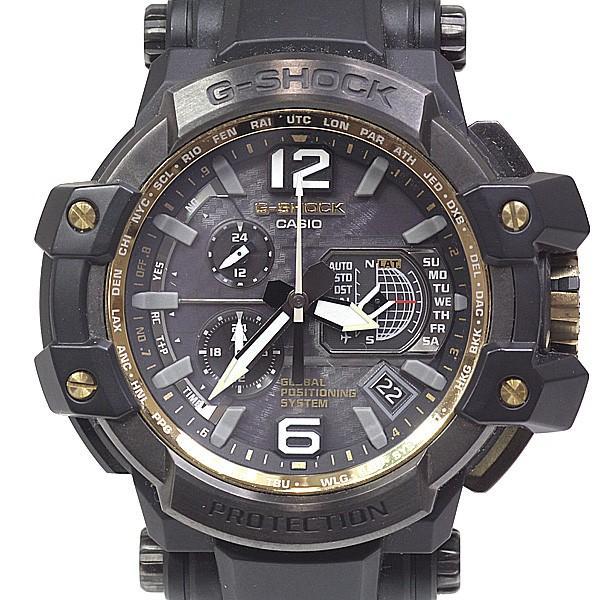 CASIO カシオ メンズ腕時計 Gショック スカイコックピット グラビティマスター GPW-1000 ソーラー電波時計 ダークグレー文字盤【中古】|kadusaya78