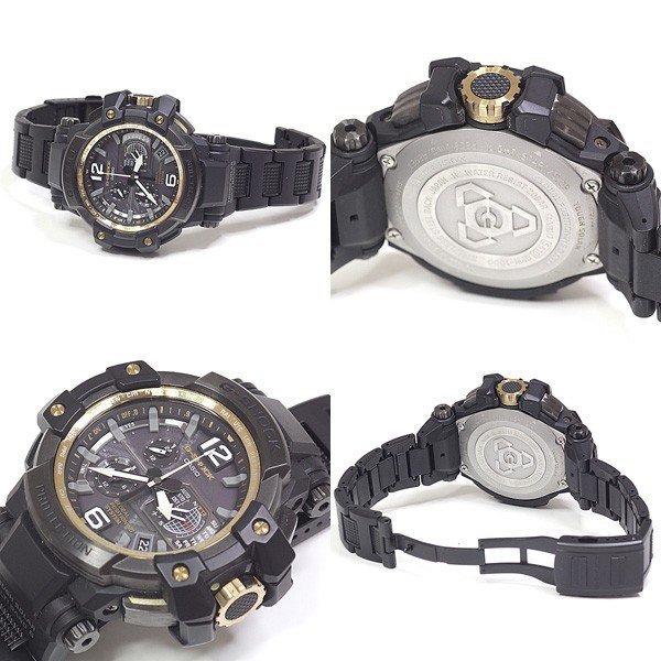 CASIO カシオ メンズ腕時計 Gショック スカイコックピット グラビティマスター GPW-1000 ソーラー電波時計 ダークグレー文字盤【中古】|kadusaya78|03