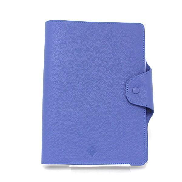 パテックフィリップ PATEK PHILIPPE ノートカバー 手帳カバー ブルー レザー A5サイズノート(横罫線)付属 未使用品|kadusaya78