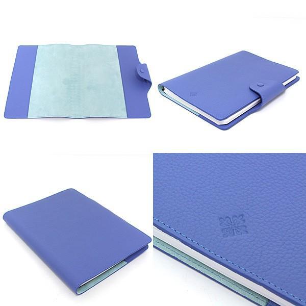 パテックフィリップ PATEK PHILIPPE ノートカバー 手帳カバー ブルー レザー A5サイズノート(横罫線)付属 未使用品|kadusaya78|02