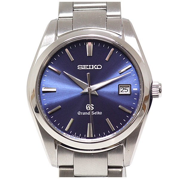 SEIKOセイコーメンズ腕時計グランドセイコーSBGX265ブルー文字盤クォーツ 中古