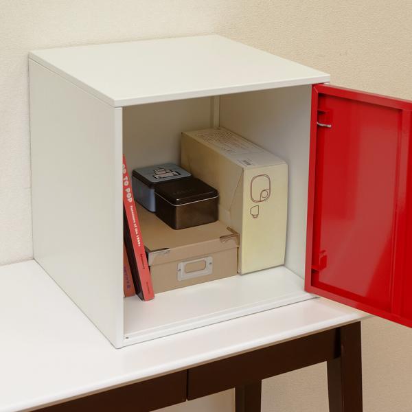 キューブBOX鍵付ロッカー BK/BL/RD/WH/YE 組立式 JAC-04  ロッカーボックス キューブボックス 鍵付き収納   キューブBOX 鍵付きラック   送料込み  |kaede-shopmart|09