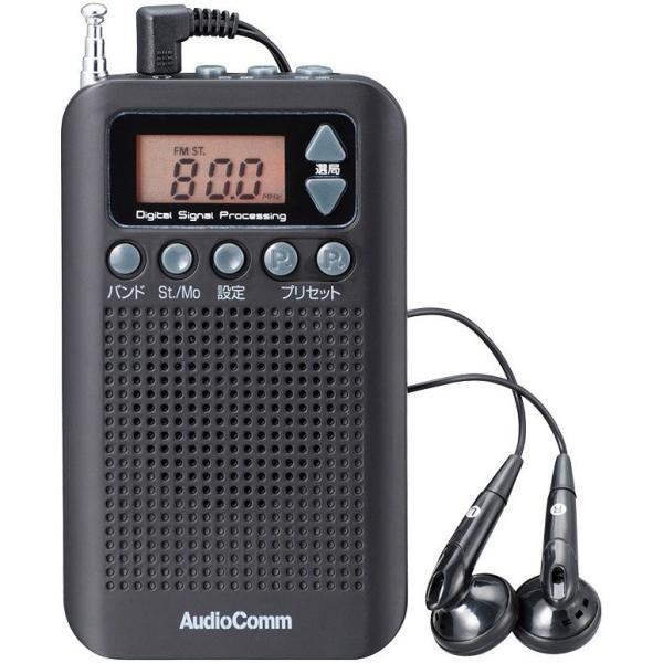 AM/FMスリム ポケットラジオ黒  a11860    送料込み   防災 災害 携帯ラジオ|kaede-shopmart|02