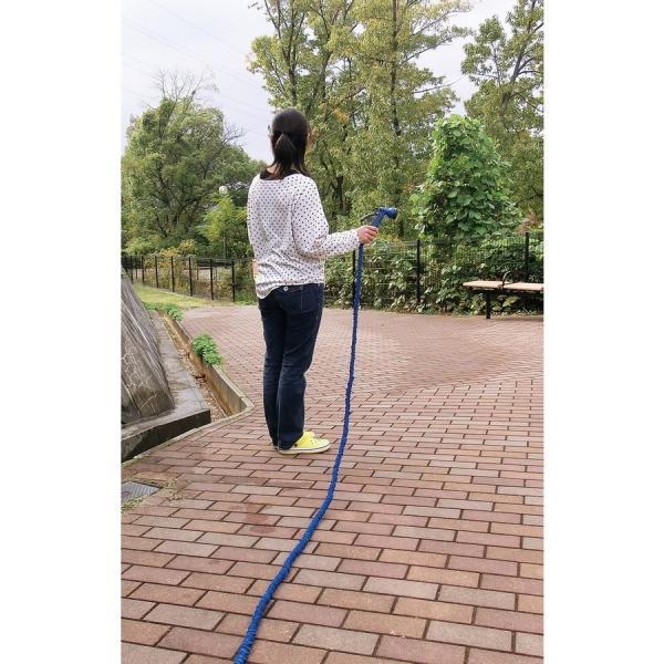 伸び〜る魔法のホース デラックス ブルー 6m  a15482    送料込み   ガーデニング 庭 ホース 水やり|kaede-shopmart|02