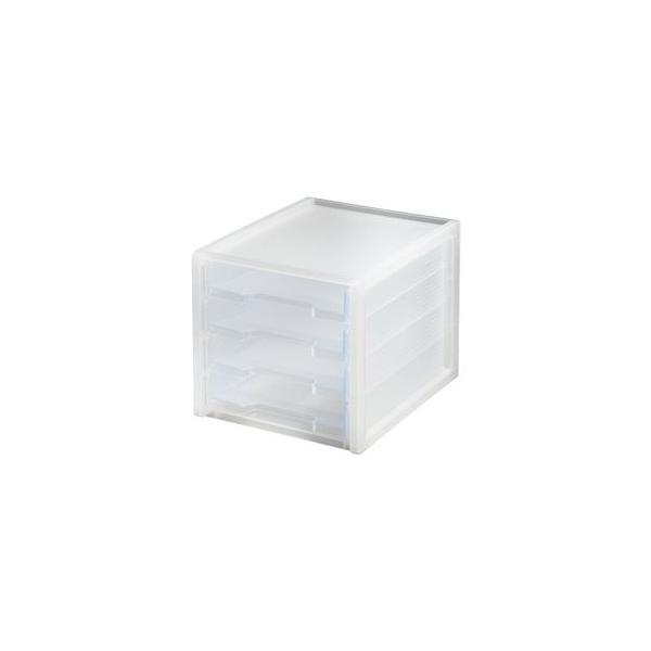 収納ケース レタートレー squ+ ナチュラ ソーフィス A4 4段 半透明 SLC-T4CL スキュウプラス squ+ サンカ SANKA[01]
