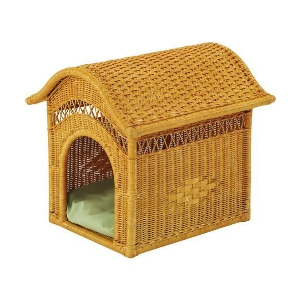 籐ペットハウス ペット用品 ペットハウス 犬 猫 小型 専用クッション付 ペット雑貨 籐家具 籐 ラタン家具 ラタン 犬小屋 小屋 かわいい おしゃれ
