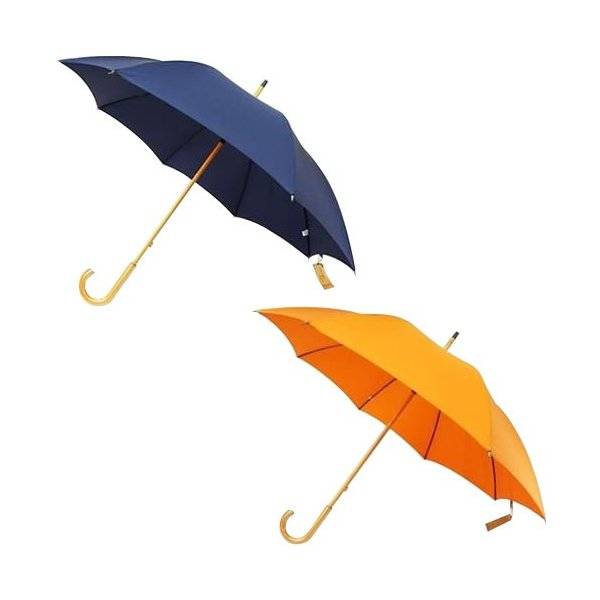 送料無料 日本の職人手作り 高密度織 木棒 手開き長傘 (同梱・代引不可)