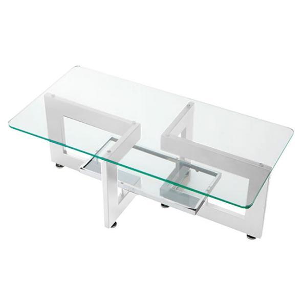 RoomClip商品情報 - ガラステーブル センターテーブル リビングテーブル(ガラス コーヒーテーブル トレーテーブル リゾートテーブル)