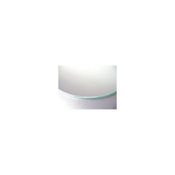 ガラスマット 硝子敷き(正円形)国産の硝子 板硝子(板厚5ミリ) 糸面取り加工(面取り幅1〜2ミリ):直径1100mm