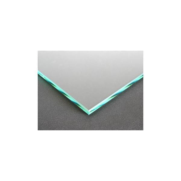 ガラスマット 硝子敷き(長方形 正方形)国産の硝子 板硝子(板厚5ミリ) 糸面取り加工(面取り幅1〜2ミリ):500x1100mm