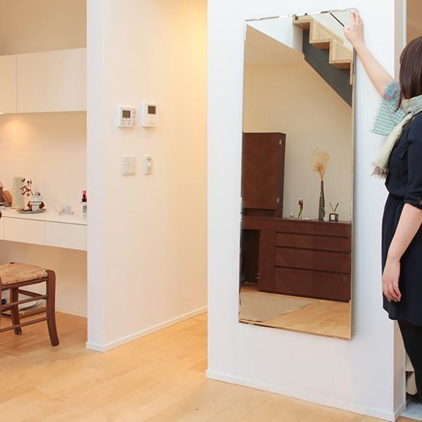 鏡 壁掛け 全身 姿見 大型 貼る 姿見鏡 セットBIG|kagamishop|03