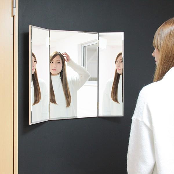 鏡 三面鏡 壁掛け コンパクト ドレッサー クイーン|kagamishop|16
