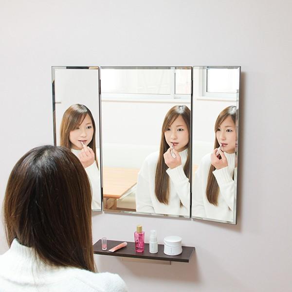 鏡 三面鏡 壁掛け コンパクト ドレッサー クイーン|kagamishop|17