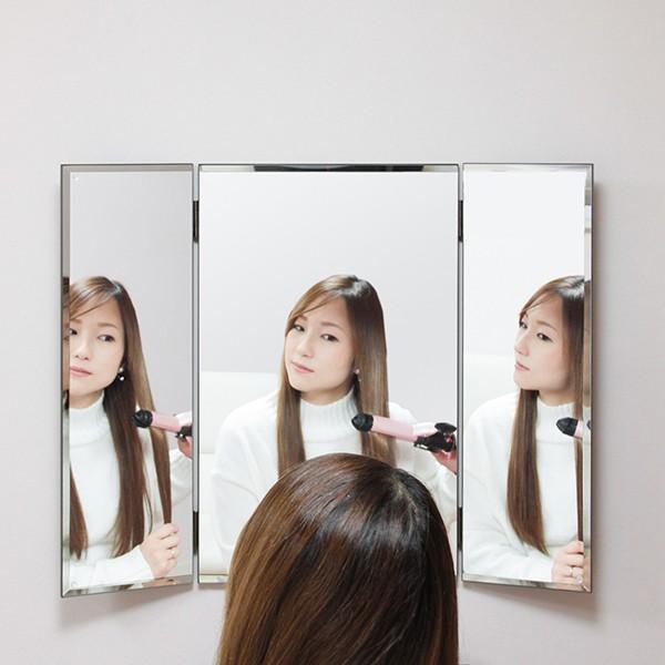 鏡 三面鏡 壁掛け コンパクト ドレッサー クイーン|kagamishop|18