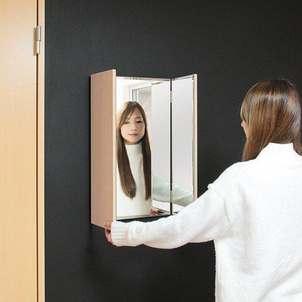 鏡 三面鏡 壁掛け コンパクト ドレッサー クイーン|kagamishop|19