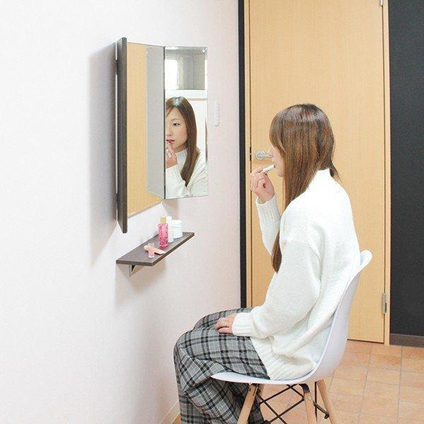 鏡 三面鏡 壁掛け コンパクト ドレッサー クイーン|kagamishop|20