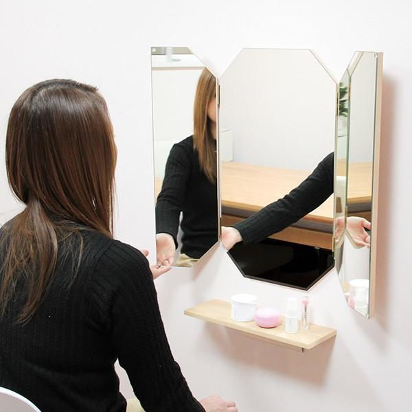 鏡 八角形 三面鏡 壁掛け ドレッサー 風水|kagamishop|16
