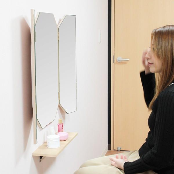 鏡 八角形 三面鏡 壁掛け ドレッサー 風水|kagamishop|17
