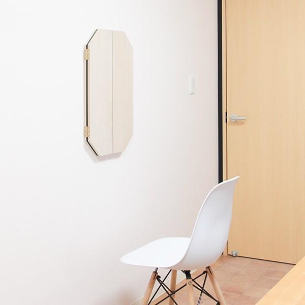 鏡 八角形 三面鏡 壁掛け ドレッサー 風水|kagamishop|18