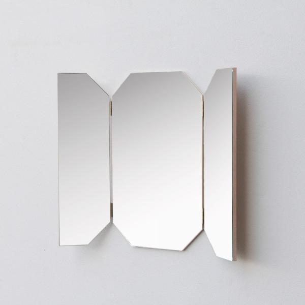 鏡 八角形 三面鏡 壁掛け ドレッサー 風水|kagamishop|21