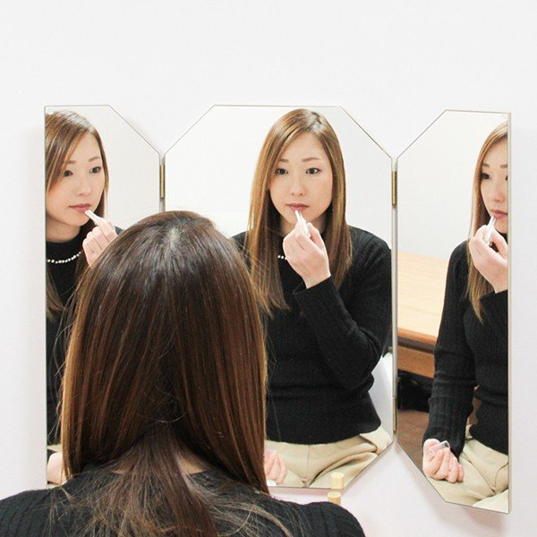 鏡 八角形 三面鏡 壁掛け ドレッサー 風水|kagamishop|08
