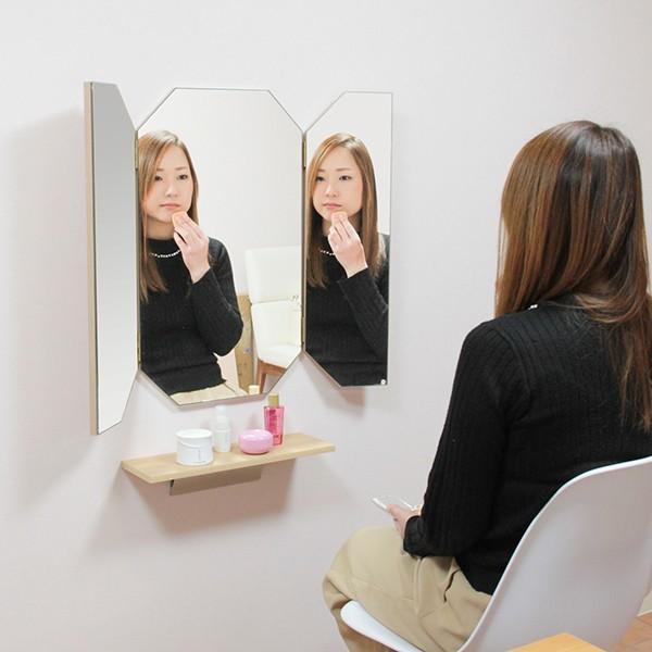 鏡 八角形 三面鏡 壁掛け ドレッサー 風水|kagamishop|09
