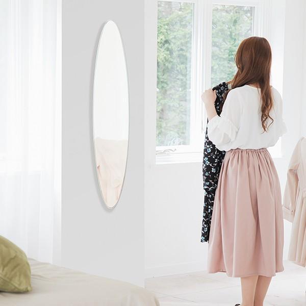 貼る 鏡 全身 壁掛け ミラー 姿見 賃貸 マンション 丸|kagamishop|13