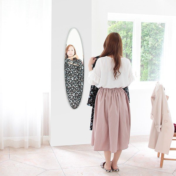 貼る 鏡 全身 壁掛け ミラー 姿見 賃貸 マンション 丸|kagamishop|14