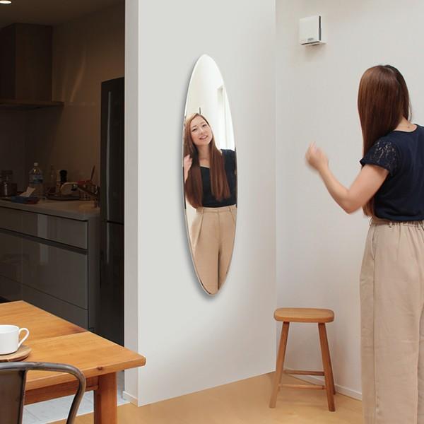 貼る 鏡 全身 壁掛け ミラー 姿見 賃貸 マンション 丸|kagamishop|15