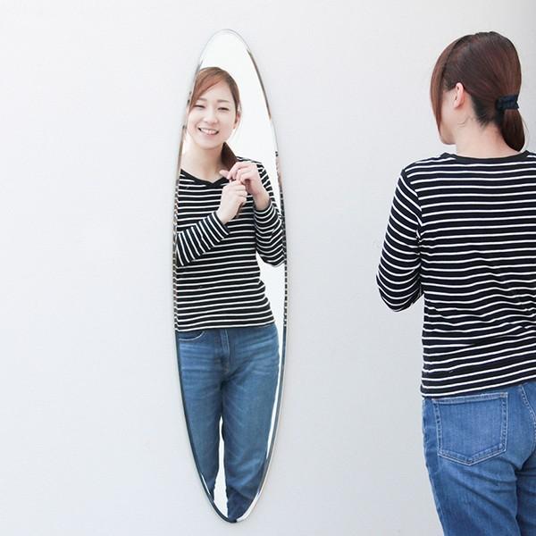 貼る 鏡 全身 壁掛け ミラー 姿見 賃貸 マンション 丸|kagamishop|03