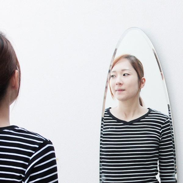 貼る 鏡 全身 壁掛け ミラー 姿見 賃貸 マンション 丸|kagamishop|04