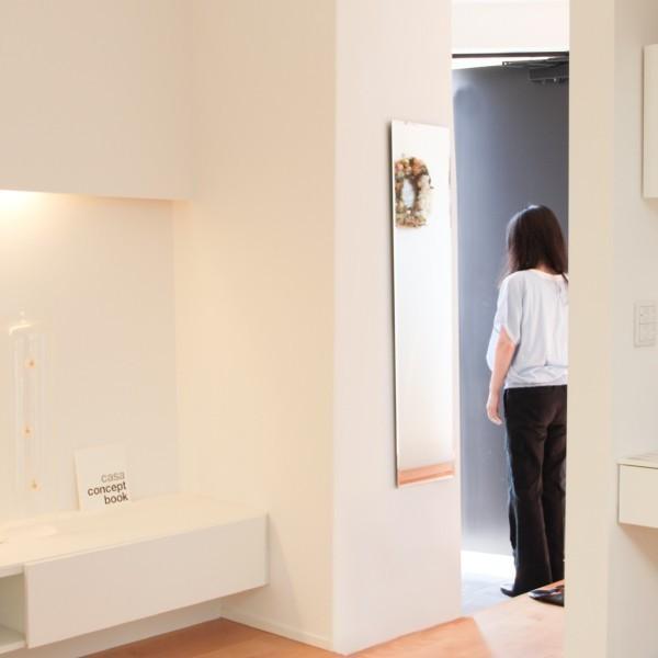 貼る 鏡 全身 壁掛け ミラー 姿見 賃貸 マンション 丸|kagamishop|06