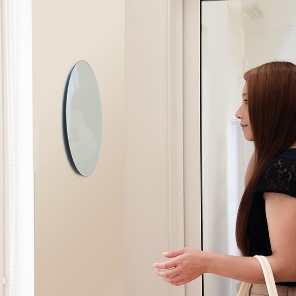 鏡 貼る 壁掛け トイレ おしゃれ 楕円 オーバル|kagamishop|16