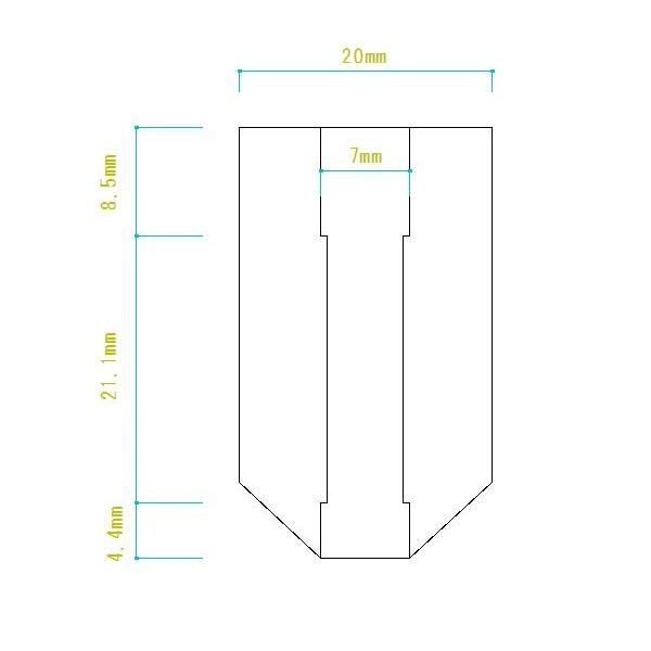 送込 [ロング穴]1個 銀 シルバー [ノンブランド] パワーハンドルノブ 雷魚かごジギング ダイワ 汎用4mmタイプ