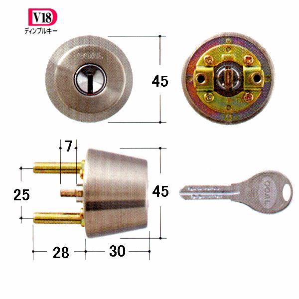 GOAL 鍵 交換 取替用 V-TX 11シル 扉厚28〜31mm (ディンプルキー) テール刻印28