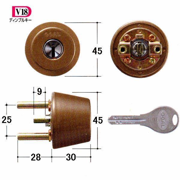 GOAL 鍵 交換 取替用 V-TX 80-1シル 扉厚31〜34mm (ディンプルキー) テール刻印31