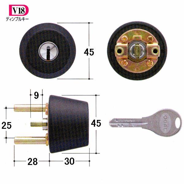 GOAL 鍵 交換 取替用 V-TX 8830シル 扉厚31〜34mm (ディンプルキー) テール刻印31