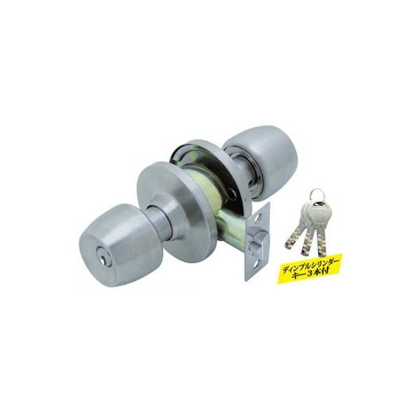 ドアノブ 交換用 FUKI 円筒錠 ディンプルキー仕様 /バックセット70mmタイプ/TLH-58