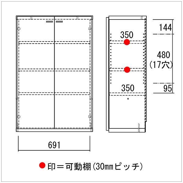 本棚 コミック 収納 扉付き おしゃれ オープンラック 完成品|kagle|03