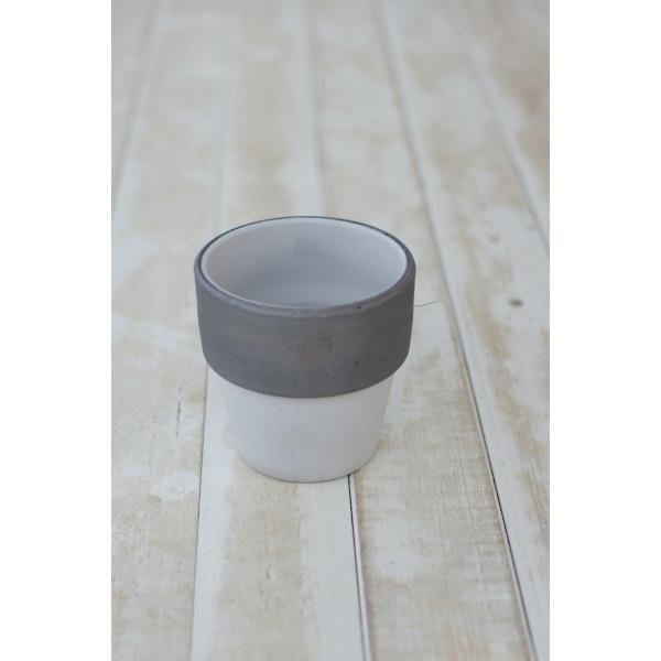 グレー焼き締めポット 花、ガーデニング 園芸用品 鉢、プランター 植木鉢 DIY、工具 庭、ガーデニング 鉢、プランター 植木鉢 (4053)|kagoen-nursery