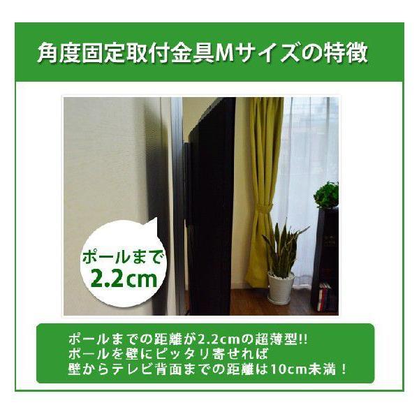 壁掛け風 壁寄せテレビスタンド 22-32V型対応 エアーポール 1本タイプ 角度固定M シルバー ap-111 エモーションズ|kagu-11myroom|03