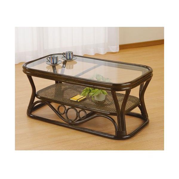 籐テーブル ラタンテーブル 籐ガラステーブル 強化ガラス天板 W90 IMT46B 今枝商店|kagu-11myroom