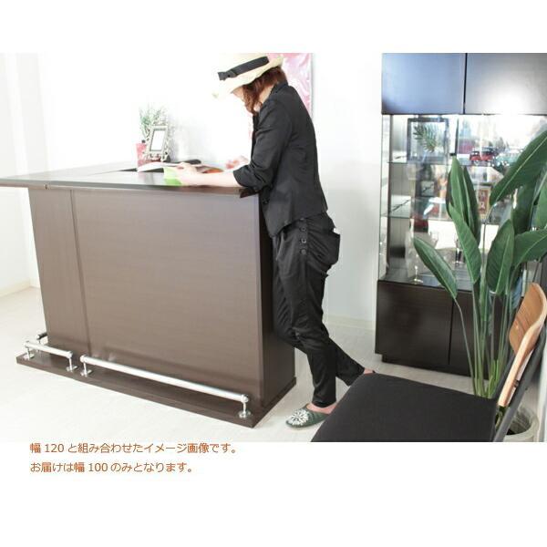バーカウンター キッチンカウンター テーブル 幅100 100幅 ハイカウンター 大川家具 おしゃれ 完成品 日本製 キッチン収納 ホワイト アウトレット価格並|kagu-1|08