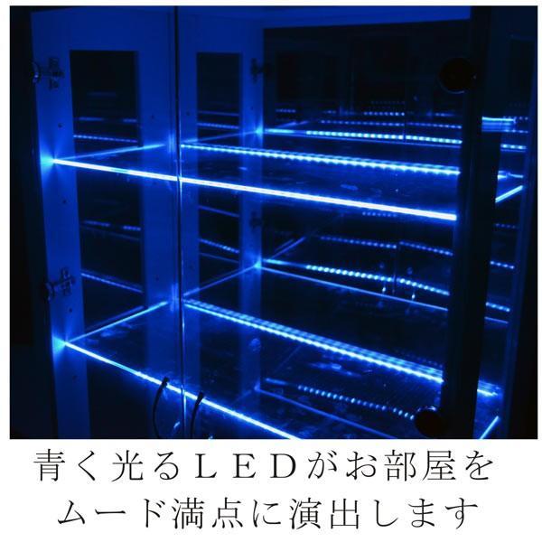 コレクションケース コレクションボード コレクション収納 LED 幅70 奥行40 高さ155cm 完成品 ガラスケース フィギュアケース ホワイト アウトレット価格並|kagu-1|02
