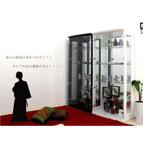 コレクションケース コレクションボード コレクション収納 LED 幅70 奥行40 高さ155cm 完成品 ガラスケース フィギュアケース ホワイト アウトレット価格並|kagu-1|03