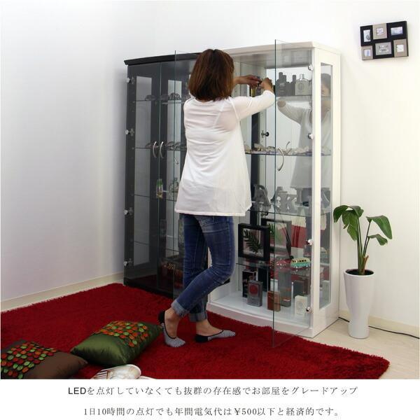 コレクションケース コレクションボード コレクション収納 LED 幅70 奥行40 高さ155cm 完成品 ガラスケース フィギュアケース ホワイト アウトレット価格並|kagu-1|04